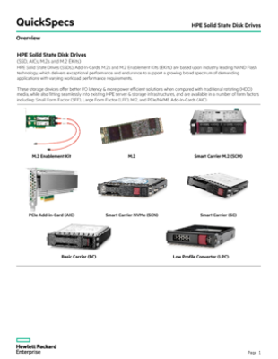 HPE Solid State Disk Drives thumbnail