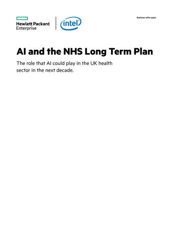 AI and the NHS Long Term Plan thumbnail