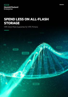 Spend less on all-flash storage – HPE Store More Guarantee for HPE Primera brochure thumbnail