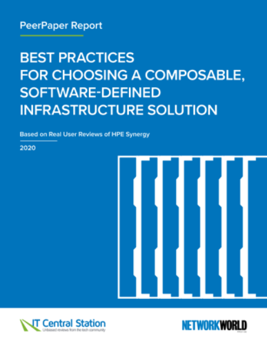 BEST PRACTICES FOR CHOOSING A COMPOSABLE, SOFTWARE-DEFINED INFRASTRUCTURE SOLUTION thumbnail