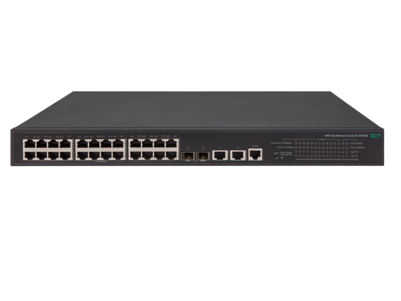 HPE FlexNetwork 5130 24G POE+ 2SFP+ 2XGT (370W) EI Switch
