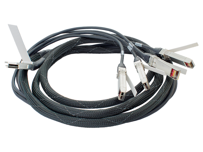 HPE BladeSystem QSFP to 4x10G SFP 5m Direct Attach Copper Cable