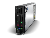 HPE ProLiant BL460c Gen10 for HPE BladeSystem - Front, left-facing, 2SFF