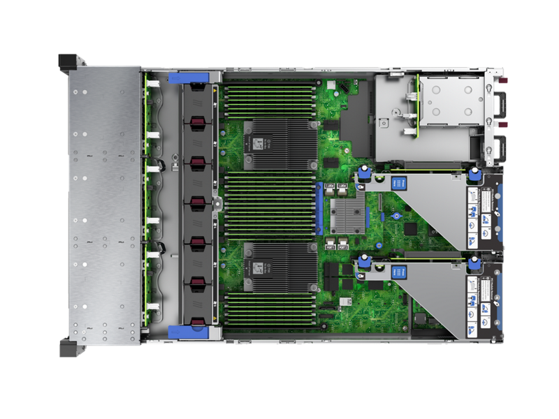 HPE ProLiant DL385 Gen10 - Top Down Interior