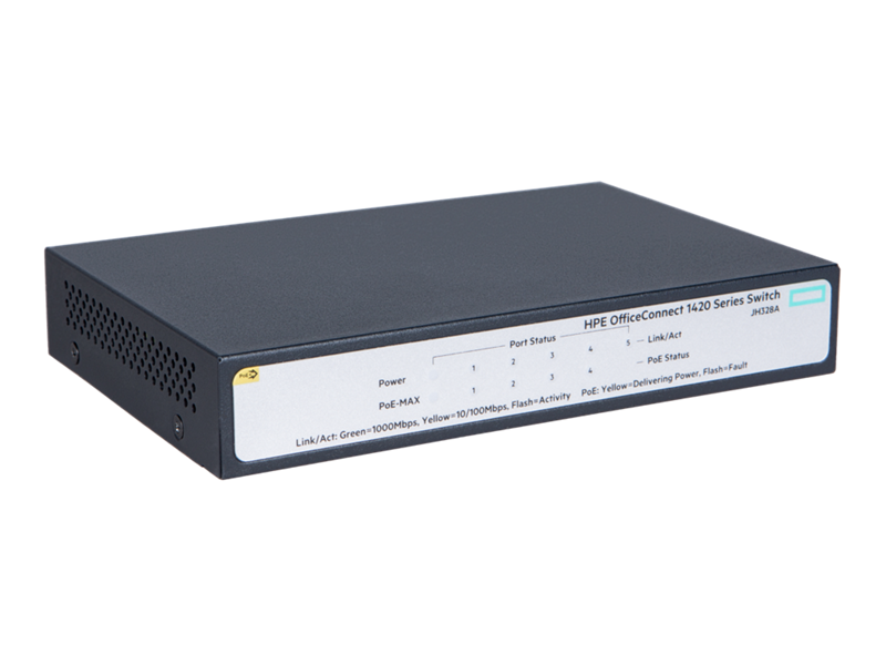 HPE OfficeConnect 1420 5G PoE+ (32W) Switch, JH328A