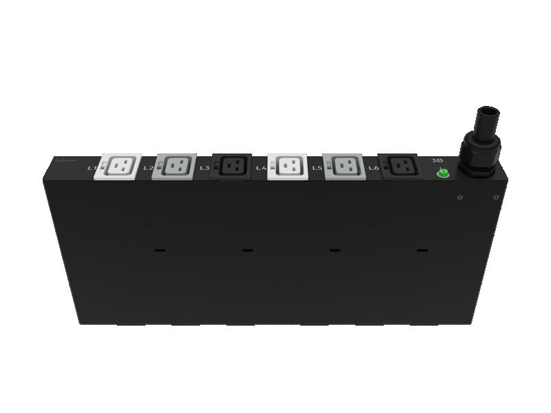 HPE G2 Basic Modular 3Ph 22kVA/60309 5-Wire 32A/230V Outlets (6) C19/1U Horizontal INTL PDU