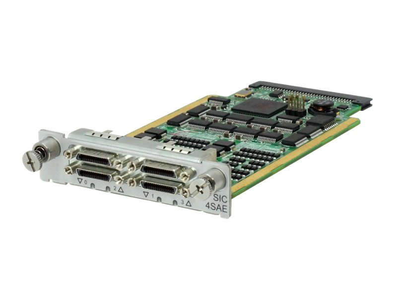 HPE MSR 4-port Enhanced Sync / Async Serial SIC Module, JG737A