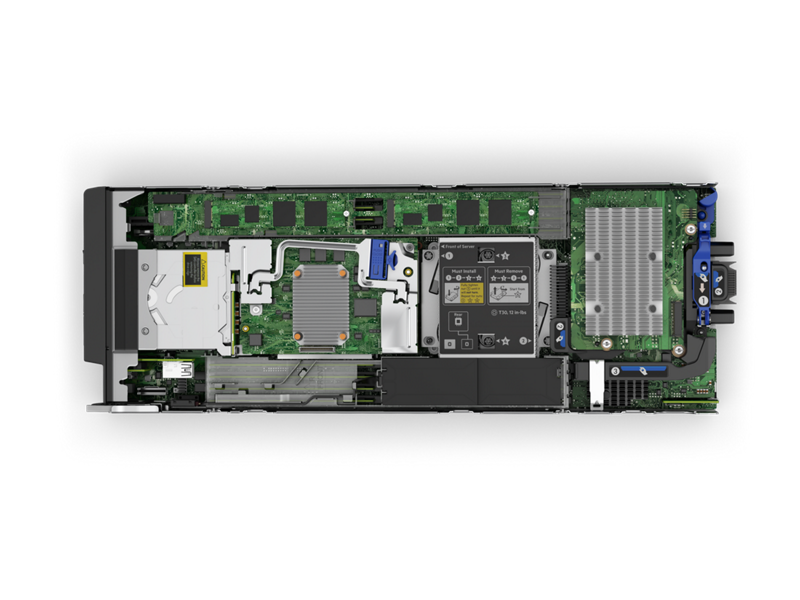 HPE BL460c Gen10 Blade - Top Down Interior