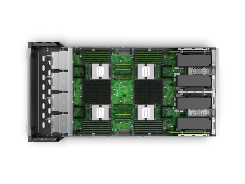 HPE Superdome Flex Server - Top Down Interior