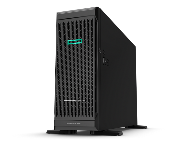 HPE ProLiant ML350 Gen10 - Hero left-facing with bezel