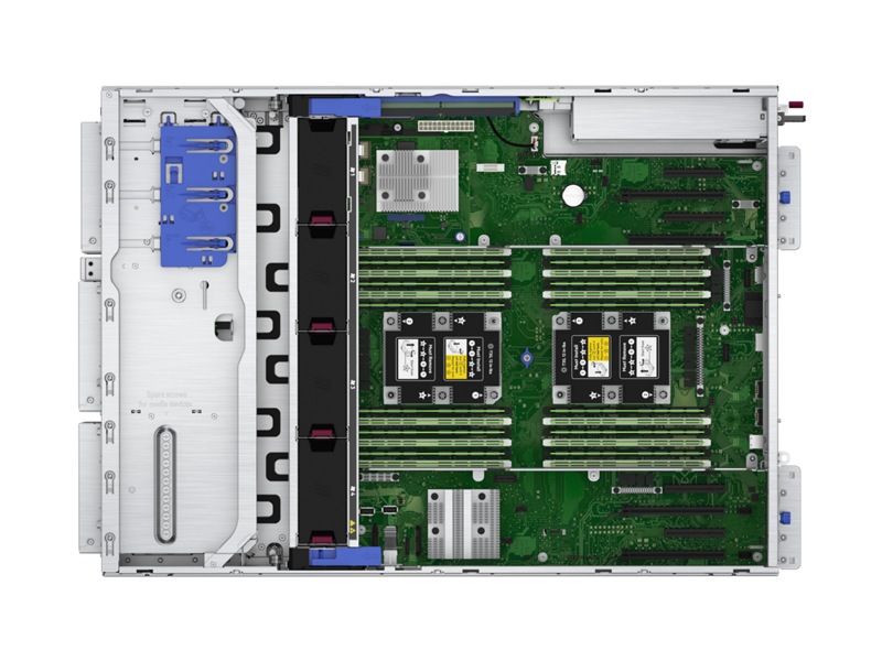 HPE ProLiant ML350 Gen10 Server - Top down interior