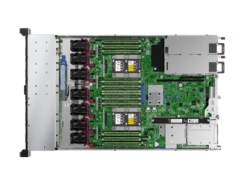 HPE ProLiant DL360 Gen10 - Top Down Interior