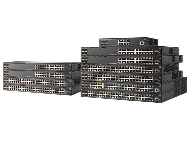 Aruba 2930F series switch family photo