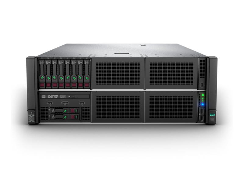 HPE ProLiant DL580 Gen10 - Front with 8SFF in Box 1 and UMB in Box 4