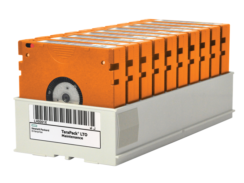 HPE LTO Terapack, 10 Labeled Cleaning Tapes
