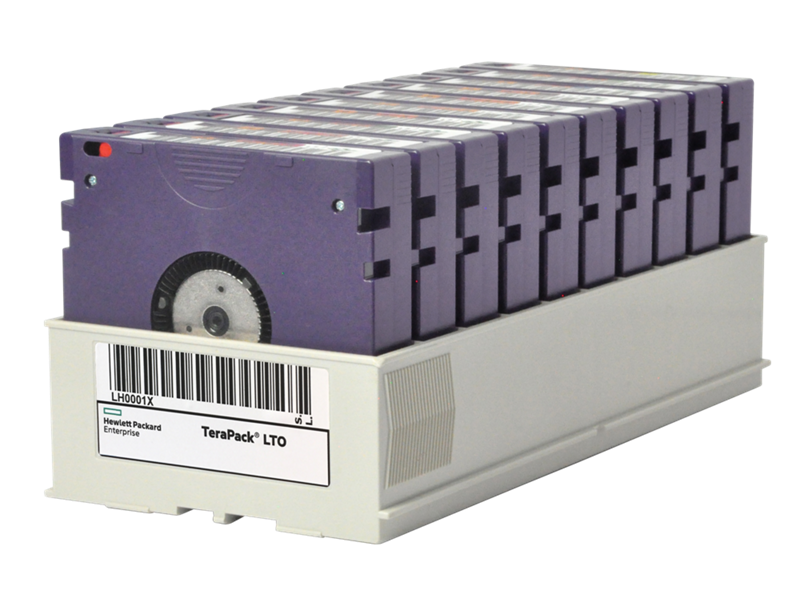 HPE LTO-7 Non Custom Labeled Terapack, 10 Certified CarbideClean Data Tapes