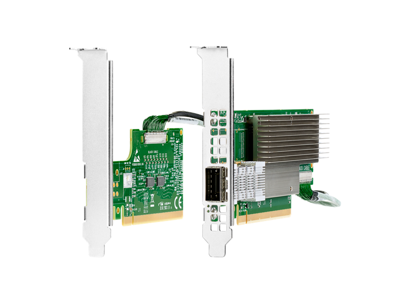 HPE IB HDR/EN 200G 1p 940QSFP56 Adapter + HPE IB HDR PCIe G3 Aux card w/short cable