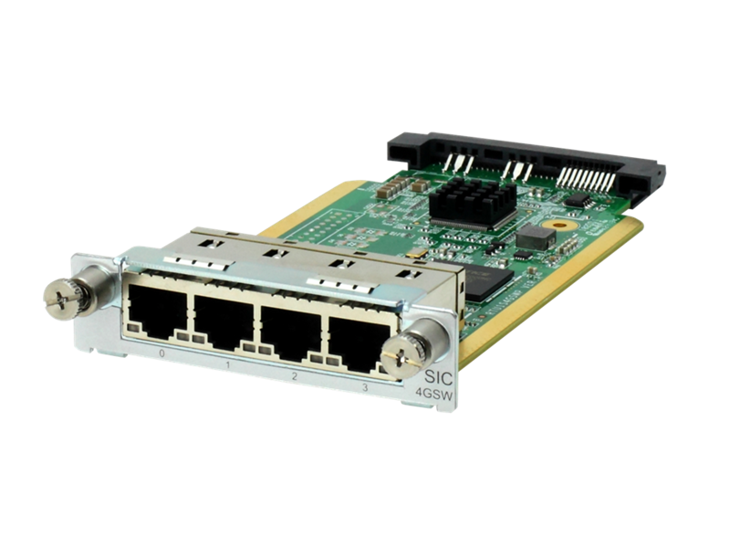 HPE MSR 4-port Gig-T Switch SIC Module, JG739A
