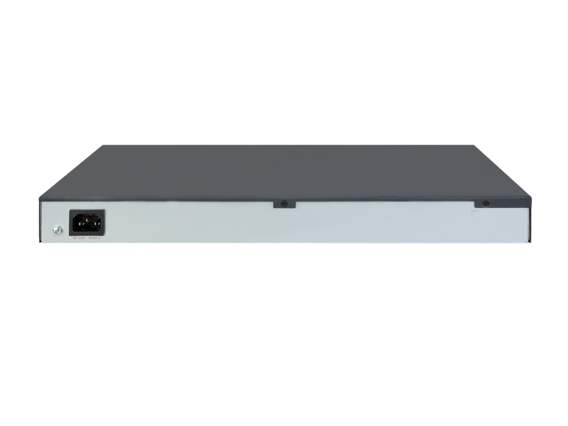 HPE OfficeConnect 1420-24G-PoE+ (124W) Switch, JH019A, rear facing