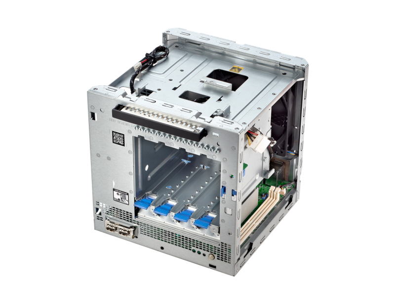 HPE Microserver Gen10- Top view open