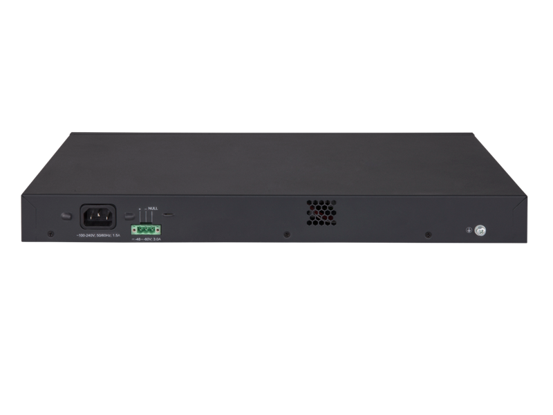 HPE 5130-48G-4SFP+ EI Switch, rear facing