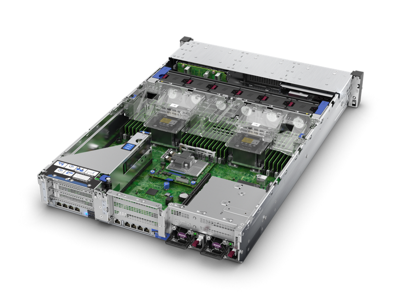 HPE ProLiant DL380 Gen10 - Rear Interior (SFF)