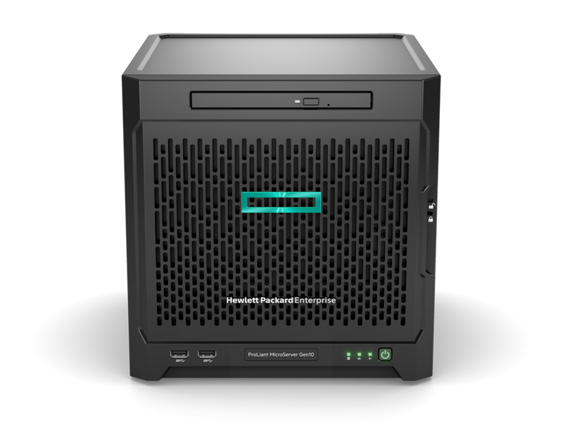HPE MicroServer Gen10 - Front (With Bezel)