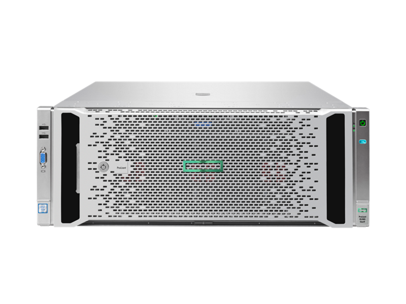 HPE ProLiant DL580 Gen9 Server, bezel on, front facing