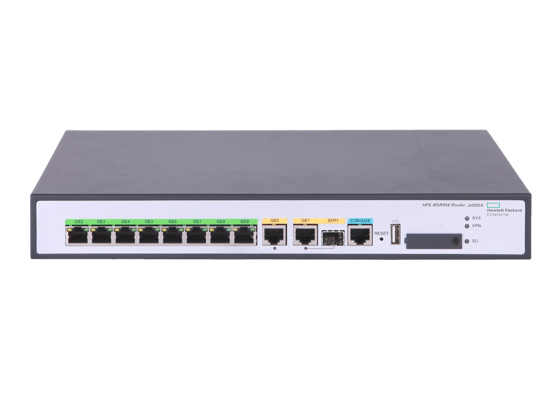 HPE FlexNetwork MSR958 1GbE and Combo 2GbE WAN 8GbE LAN Router,