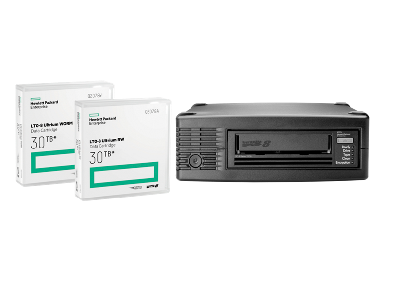 HPE LTO-8 Ultrium RW Data Cartridge, LTO-8 Ultrium WORM Data Cartridge, HPE StoreEver LTO-8 Ultrium 30750 Tape Drive