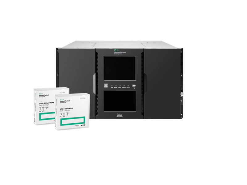 HPE LTO-8 Ultrium RW Data Cartridge, LTO-8 Ultrium WORM Data Cartridge, StoreEver MSL6480 Tape Library