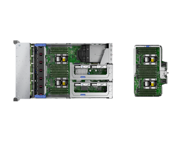HPE ProLiant DL580 Gen10 - Top Down Interior