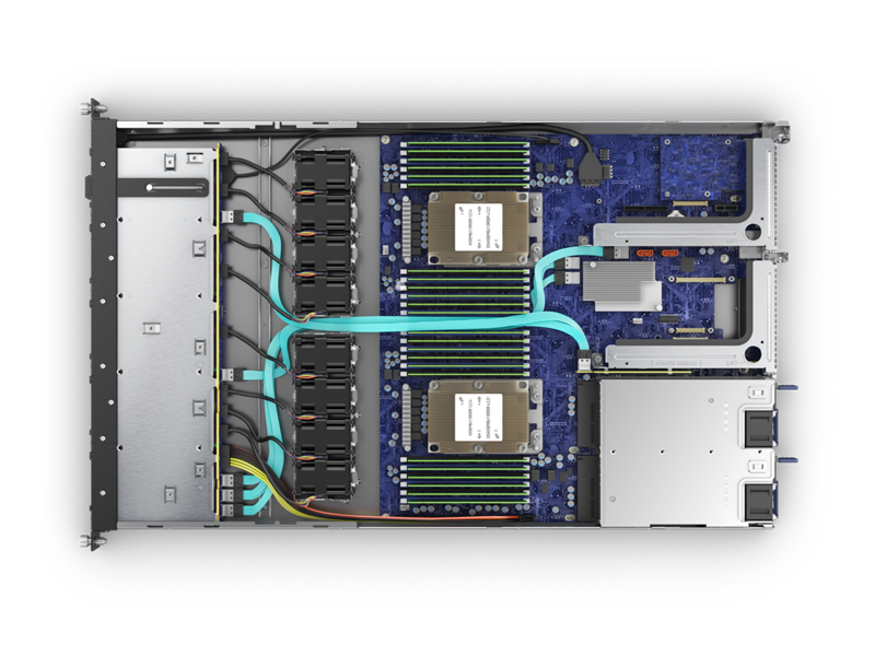 HPE Cloudline CL2100 Gen10 Server - Top Down Interior