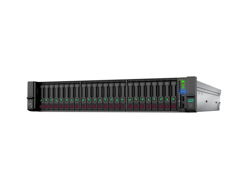 HPE ProLiant DL385 Gen10 - Hero, left-facing
