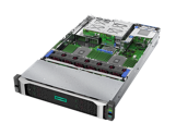HPE ProLiant DL385 Gen10 - Interior, front left-facing