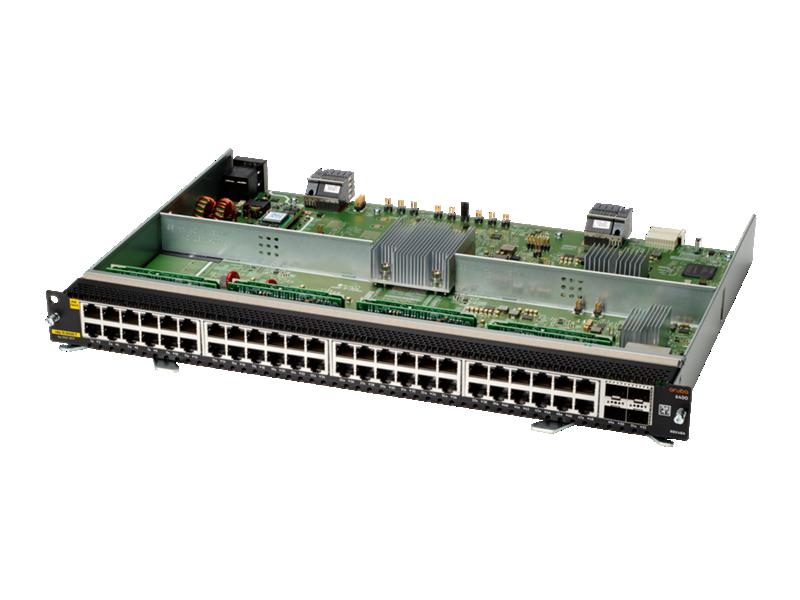 Aruba 6400 48-port 1GbE Class 6 PoE and 4-port SFP56 Module
