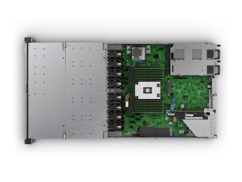 HPE DL325 Gen10 Plus Imagery - Top Down Interior