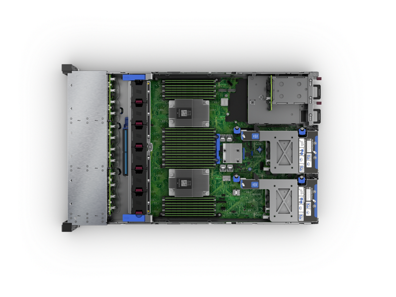HPE ProLiant DL385 Gen10 Plus Server Imagery - Top Down Interior