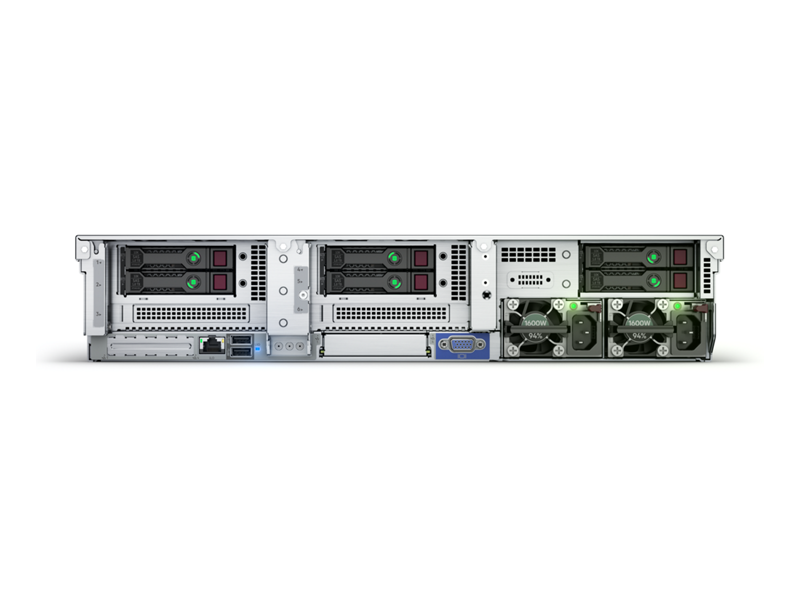 HPE ProLiant DL385 Gen10 Plus Server Imagery - Rear (No Perspective)