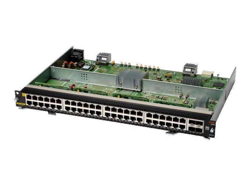 Aruba 6400 48-port 1GbE Class 4 PoE and 4-port SFP56 Module