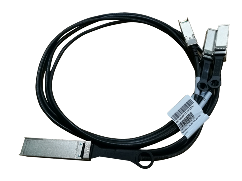 HPE X240 QSFP28 4xSFP28 1m Direct Attach Copper Cable, JL282A