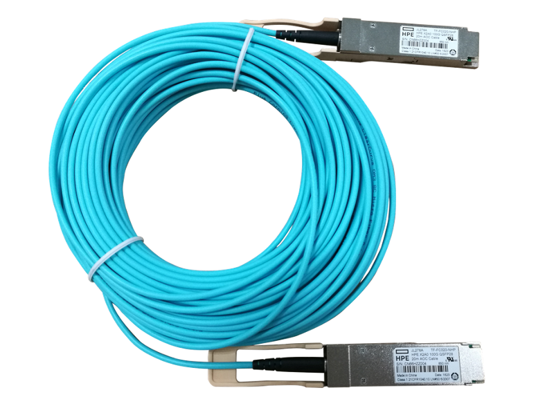 HPE X2A0 100G QSFP28 to QSFP28 20m Active Optical Cable, JL278A