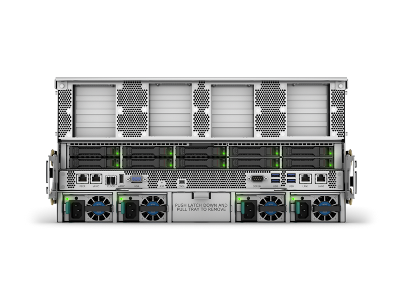 HPE Superdome Flex 280 Image - Rear 16 PCIe, 10 SFF