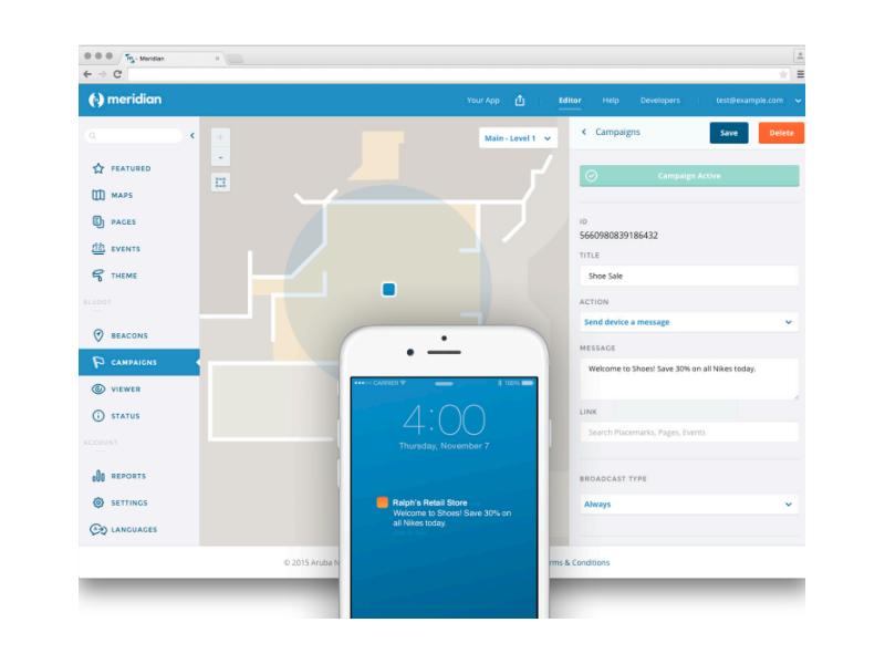 Aruba Meridian App Platform